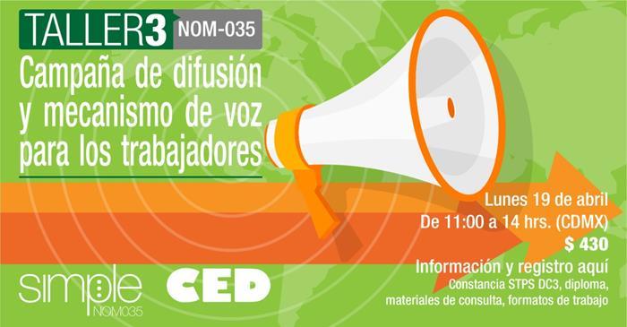 Taller 3 Campaña de difusión y mecanismo de voz de los trabajadores