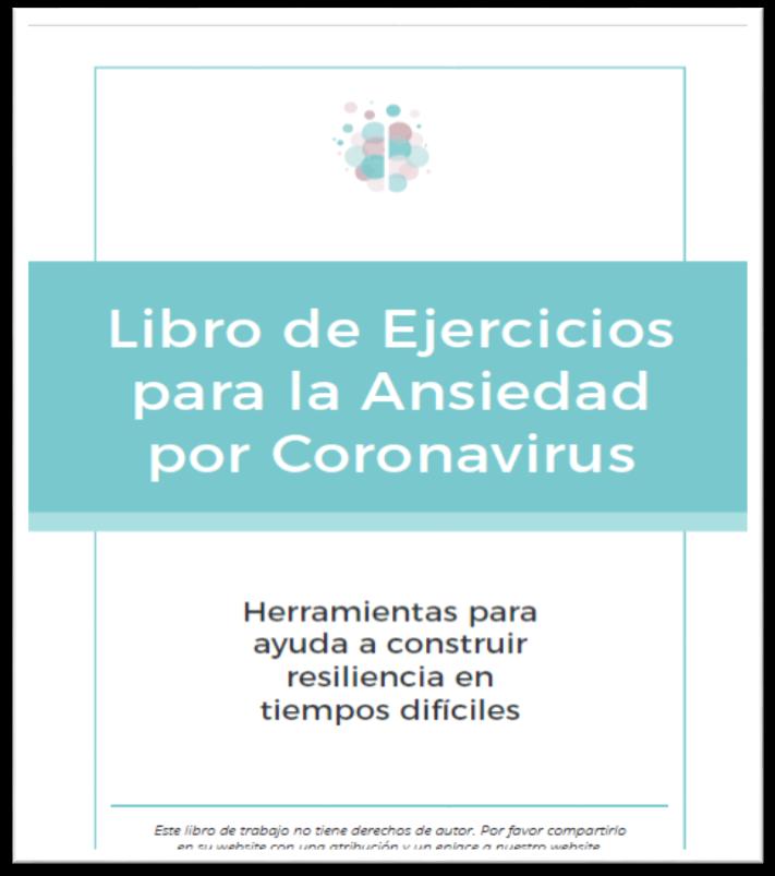 Libro de ejercicios para la ansiedad por coronavirus