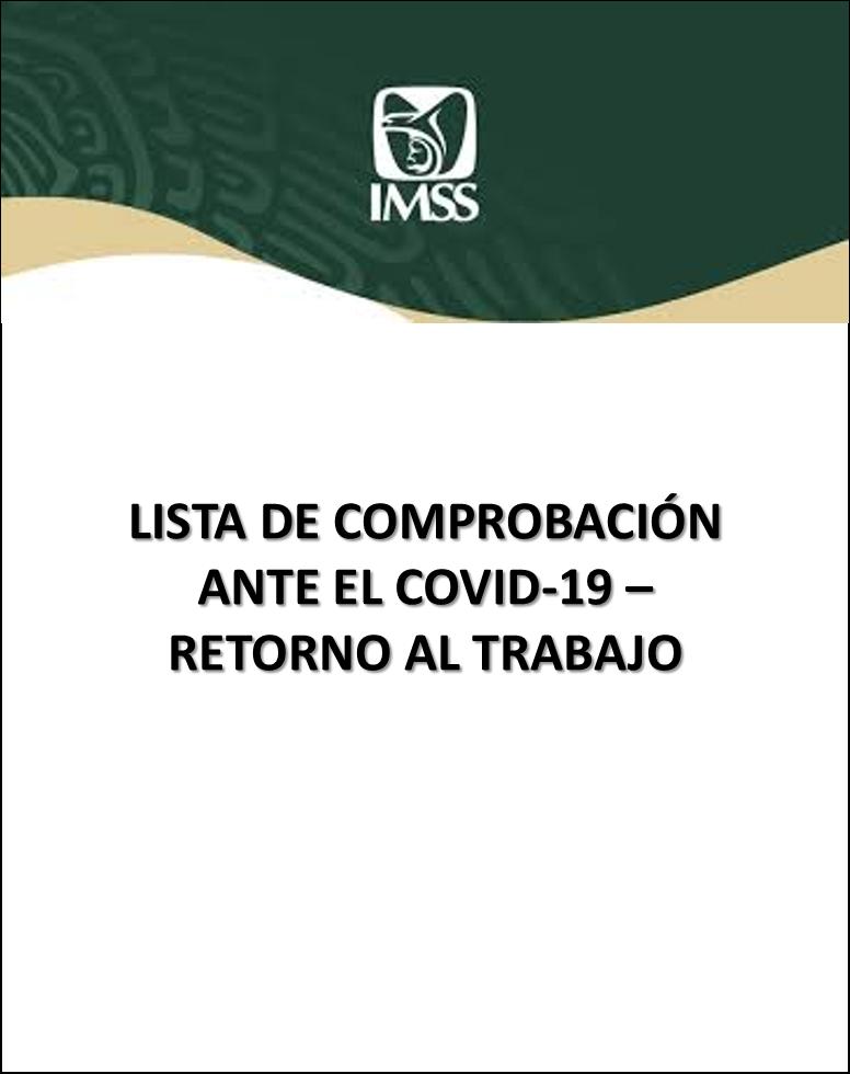 LISTA DE COMPROBACIÓN ANTE EL COVID-19 – RETORNO AL TRABAJO